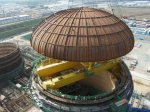 На Нововоронежской АЭС-2 завершили бетонирование купола гермооболочки реакторного здания энергоблока №1